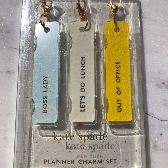 Kate Spade 3 Charm Set - New